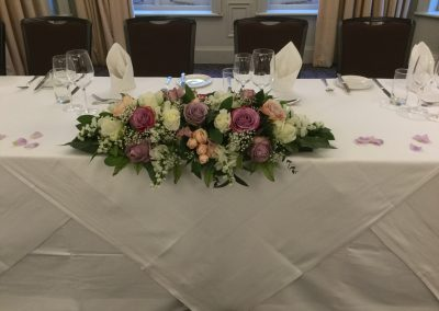 Long Low Top Table Arrangement
