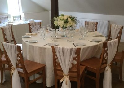 ivory chair drape